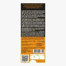 Tablette Tanariva, chocolat au lait (33% de cacao minimum, pur beurre de cacao) Valrhona