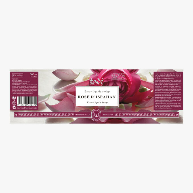 Liquid Aleppo Soap, rose of Isfahan Tadé Pays du Levant