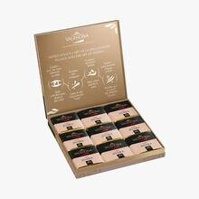 Coffret de 18 carrés de chocolat au lait, Jivara Valrhona