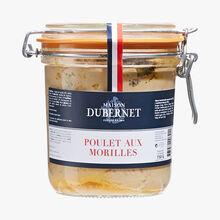 Chicken with morel mushrooms Maison Dubernet