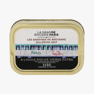 Les sardines de Bretagne millésime 2017 à l'huile d'olive vierge extra La Grande Épicerie de Paris