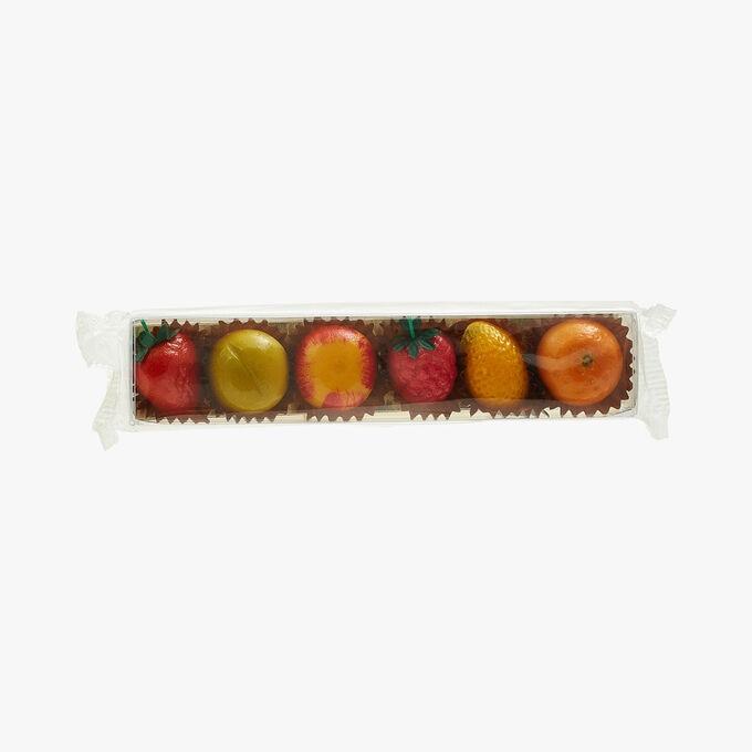 Réglettes de 6 fruits assortis en pâte d'amande Maffren