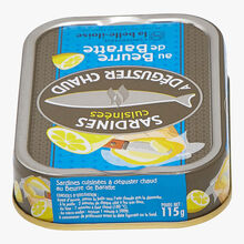 Cooked sardines with churned butter to enjoy warm Conserverie la Belle-Iloise