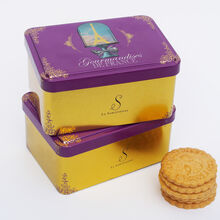 Caramel shortbread biscuits, Paris box  La Sablésienne