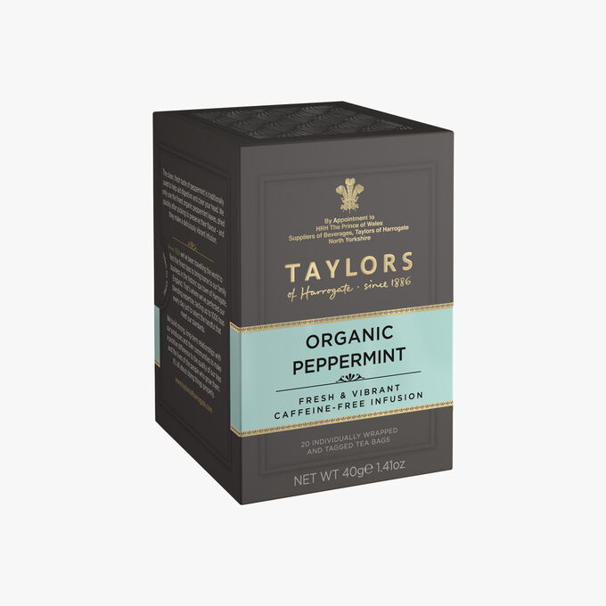 Infusion de menthe poivrée biologique Taylor's of Harrogate