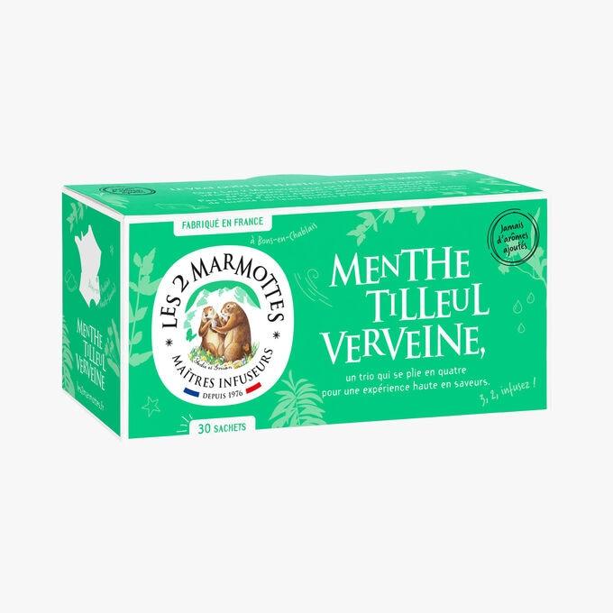 Infusion Menthe Tilleul Verveine Les 2 Marmottes