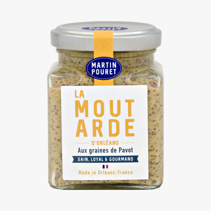 Orleans mustard with Pavot seeds Martin Pouret