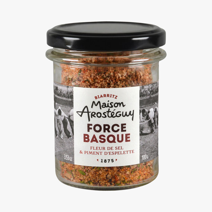Force Basque, fleur de sel et piment d'Espelette Maison Arosteguy