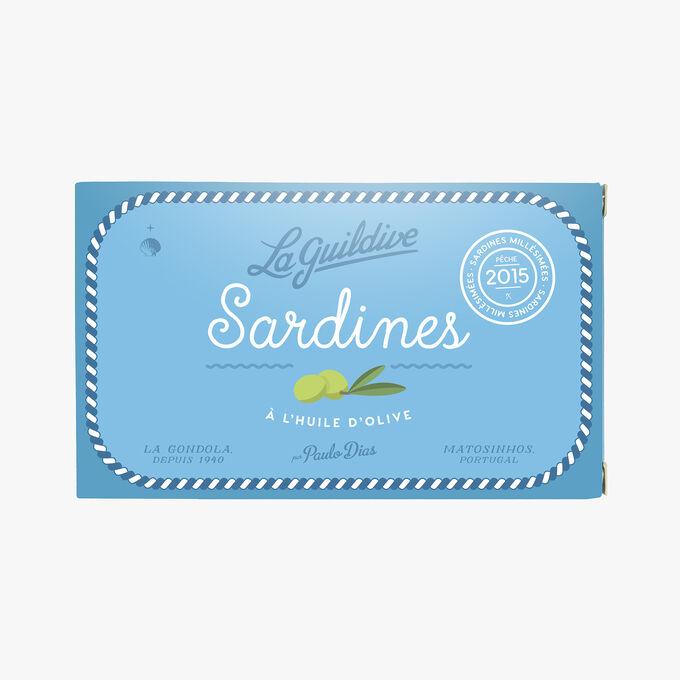 Sardines à l'huile d'olive millesimées 2015 La Guildive