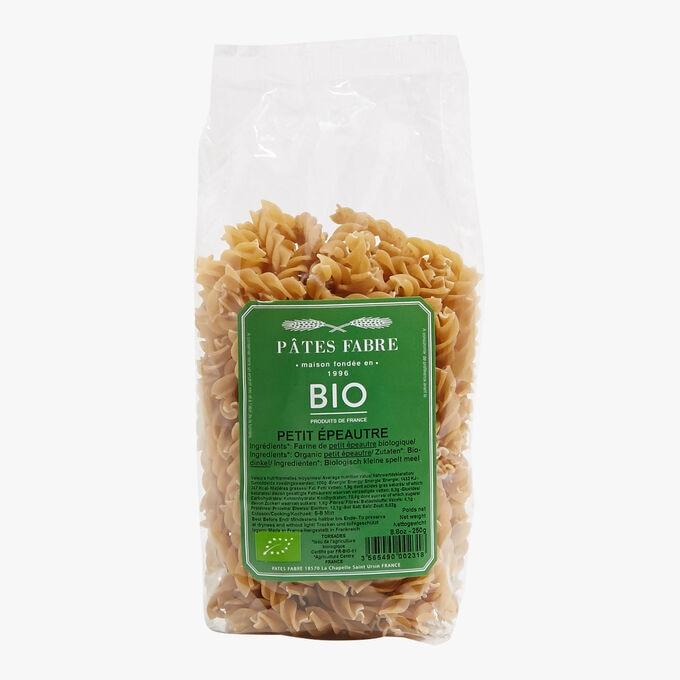 Organic einkorn wheat spiral pasta Pâtes Fabre