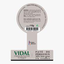 Pâté de Périgueux truffé 30% foie gras  Vidal
