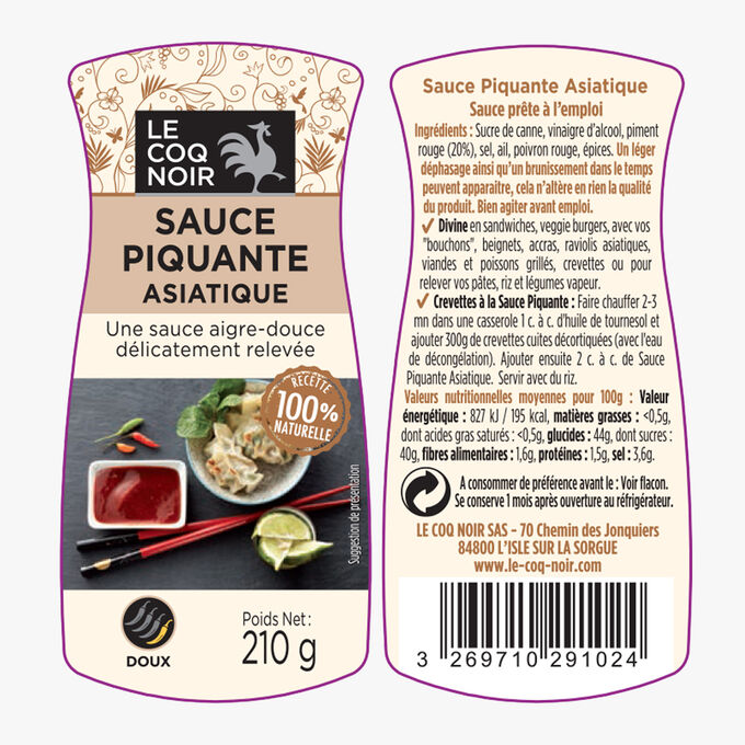 Asian hot sauce Le Coq Noir
