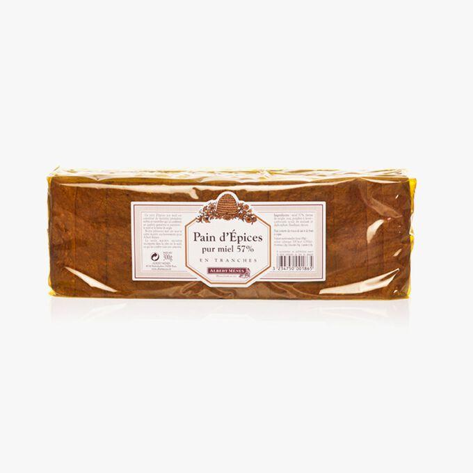 Sliced spiced bread with 57 % pure honey  Albert Ménès