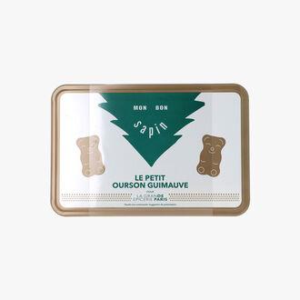 Boîte en métal d'oursons guimauves de Noël La Grande Épicerie de Paris