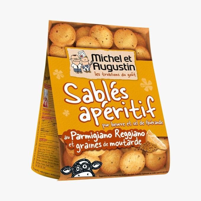 Sablés apéritifs au Parmigiano Reggiano et graines de moutarde Michel et Augustin