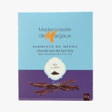 Brins de chocolat noir aromatisés thé bergamote  Mademoiselle de Margaux