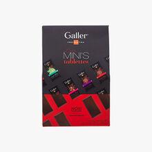 Assortment of mini-bars of dark chocolate Galler