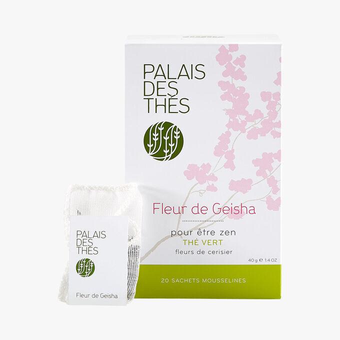 Fleur de Geisha, thé vert, fleurs de cerisier, 20 sachets mousselines Palais des Thés