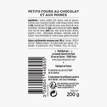 Chocolate and pear petits fours La Grande Épicerie de Paris