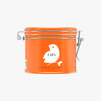 Rooibos Orange-Cannelle infusion boîe métal Lov Organic