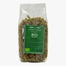 Organic spinach torsades Pâtes Fabre