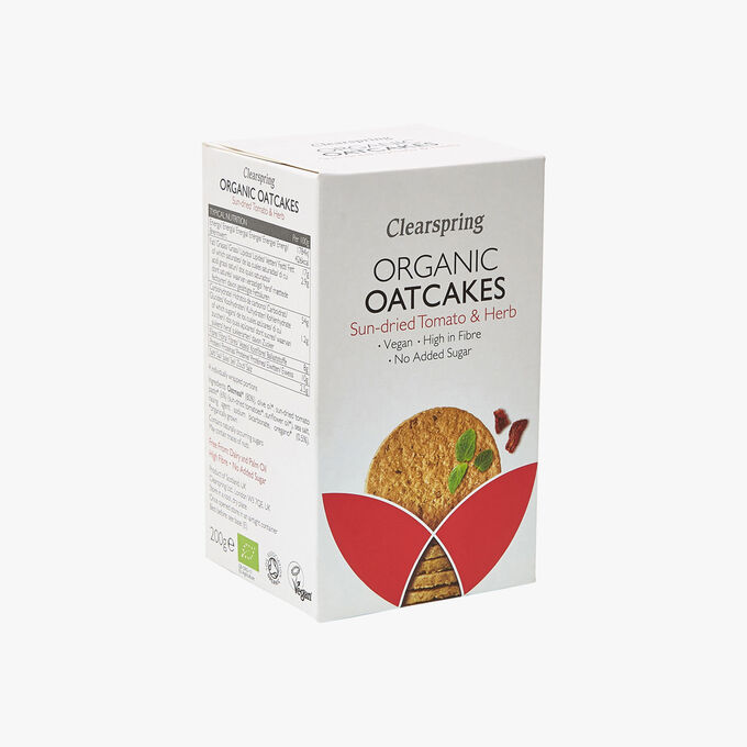 Organic Oatcakes - Sun-dried tomatoes & Aromatic herbs Clearspring