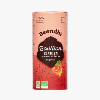 Bouillon L'Indien, tomates et épices en poudre Beendhi