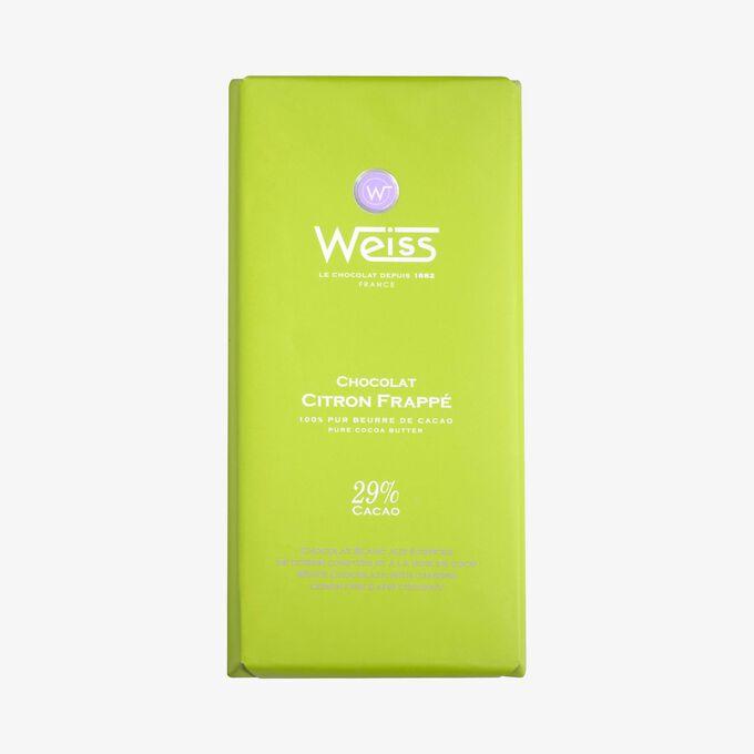Tablette chocolat citron frappé Weiss