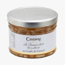 Le cassoulet landais au confit de canard Castaing