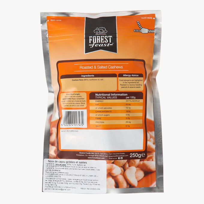 Noix de cajou grillées et salées Forest Feast