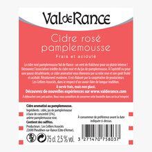 Cidre rosé pamplemousse Val de Rance