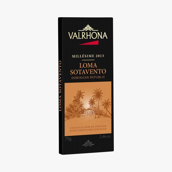 Chocolat noir de Domaine Loma Sotavento 64% de cacao minimum Valrhona