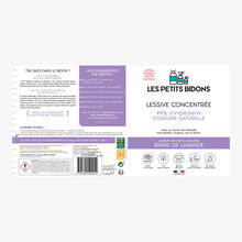Lessive concentrée - Parfum d'origine naturelle « Brins de lavande » - Tous textiles, couleurs, noir et blanc Les Petits Bidons