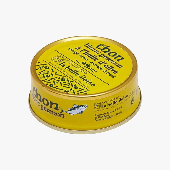 Thon blanc germon à l'huile d'olive vierge extra Conserverie la Belle-Iloise