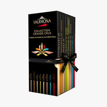Coffret Collection Grands Crus, 8 tablettes de chocolat noir, lait et Blond Dulcey Valrhona
