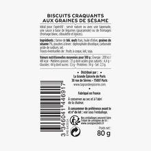 Biscuits craquants aux graines de sésame La Grande Épicerie de Paris