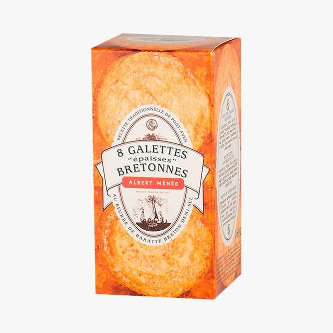 Galettes épaisses Bretonnes au beurre de baratte demi-sel Albert Ménès