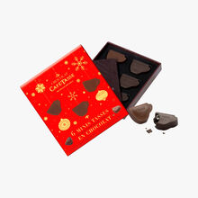 6 mini-cups in dark chocolate and dark, milk & salted caramel ganache Café-Tasse