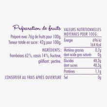 Raspberry and blackcurrant fruit mix – 'Cajole-moi' La Cour d'Orgères