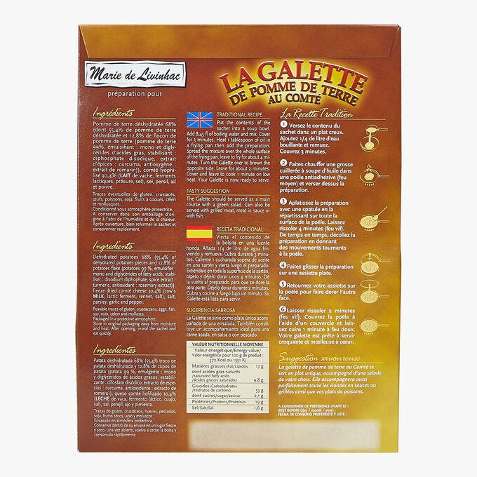 Preparation for savour potato pancakes with Comté Marie de Livinhac