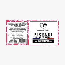Lune Pourpre Pickles, red onion, red wine vinegar Les 3 chouettes