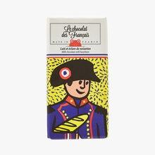Lait et éclats de noisettes - Illustration Axelle Doppelt Le Chocolat des Français