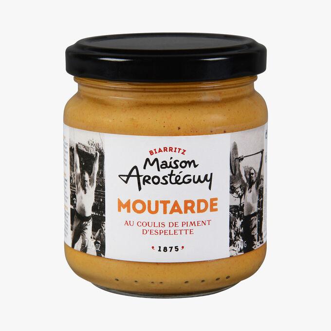 Moutarde au coulis de piment d'Espelette Maison Arosteguy