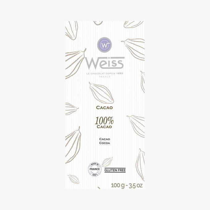 Dark chocolate, 100% cocoa Weiss