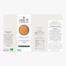 Préparation bio pour fond de tarte sucré Marlette
