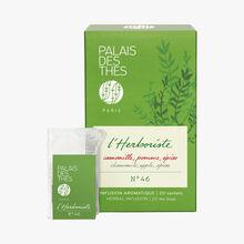 Chamomile, Apple, Spices – l'Herboriste N°46, 20 muslin teabags Palais des Thés