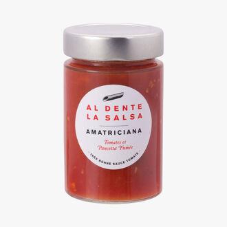 L'Amatriciana, tomates et pancetta fumée Al dente la salsa