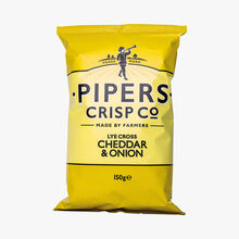 Cheddar and onion crisps Pipers Crisp Co