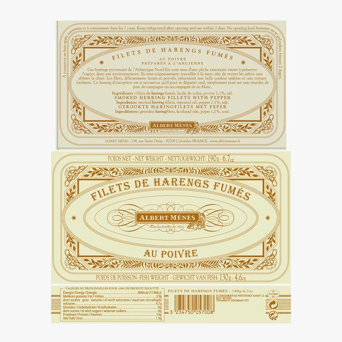 Filets de harengs fumés au poivre Albert Ménès
