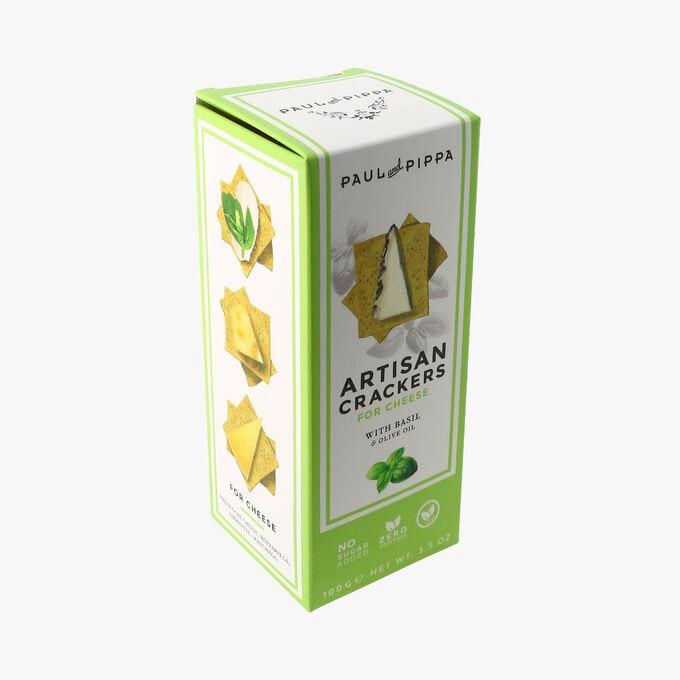 Crackers au basilic et à l'huile d'olive Paul & Pippa